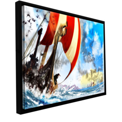 Brushstone Old Times 3 Gallery Wrapped Floater-Framed Canvas Wall Art