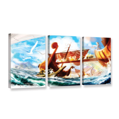 Brushstone Old Times 4 3-pc. Gallery Wrapped Canvas Wall Art