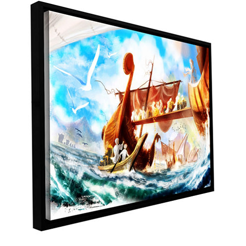Brushstone Old Times 4 Gallery Wrapped Floater-Framed Canvas Wall Art