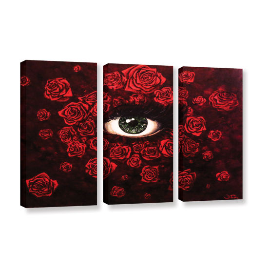 Brushstone La Vie En Rose 3-pc. Gallery Wrapped Canvas Wall Art