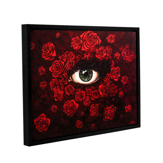 Brushstone La Vie En Rose Gallery Wrapped Floater-Framed Canvas Wall Art