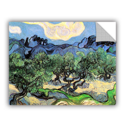 Brushstone Olive Trees In A Mountanious LandscapeRemovable Wall Decal