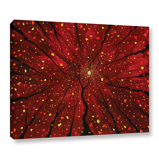Brushstone On A Wicked Night Gallery Wrapped Canvas Wall Art