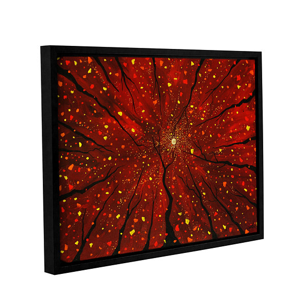 Brushstone On A Wicked Night Gallery Wrapped Floater-Framed Canvas Wall Art