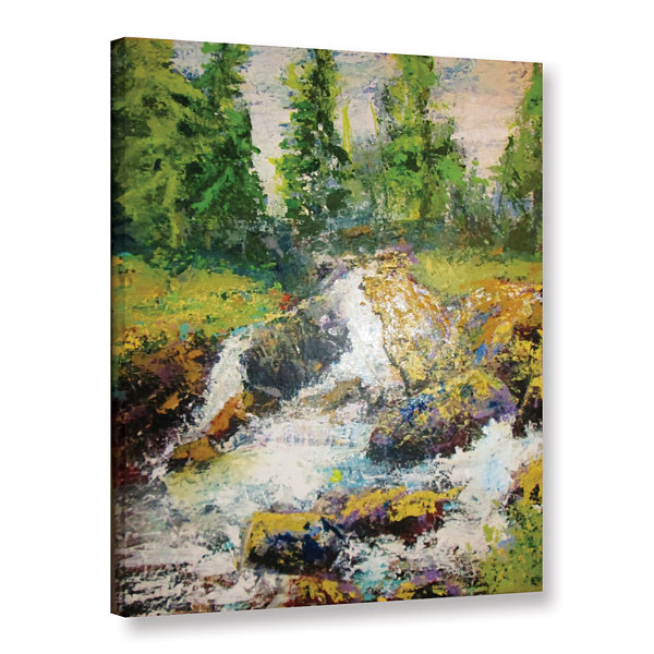 Brushstone On The Way To Diamond Lake Gallery Wrapped Canvas Wall Art