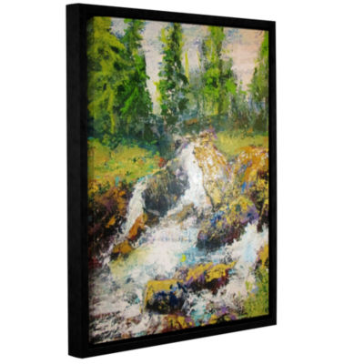 Brushstone On The Way To Diamond Lake Gallery Wrapped Floater-Framed Canvas Wall Art