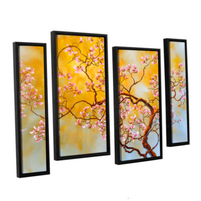 Brushstone Light Of Del Ray 4-pc. Floater Framed Staggered Canvas Wall Art