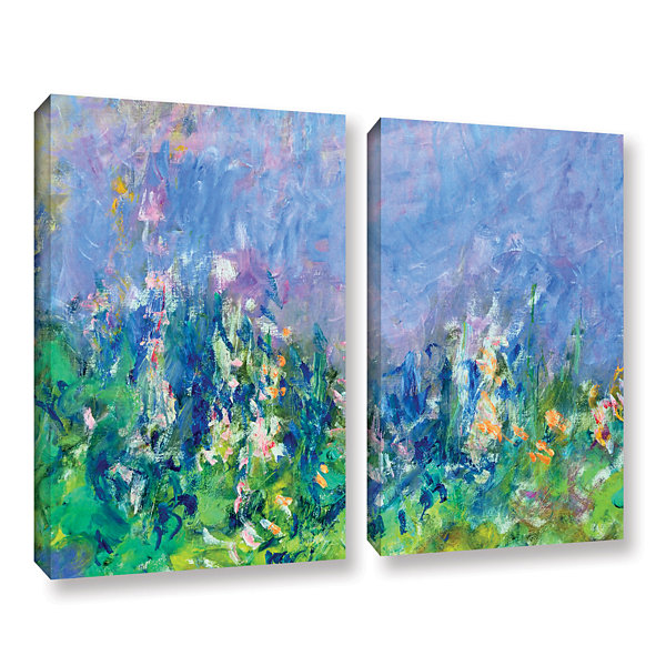 Brushstone Lavender Fields 2-pc. Gallery Wrapped Canvas Wall Art