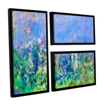 Brushstone Lavender Fields 3-pc. Flag Floater Framed Canvas Wall Art