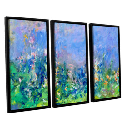 Brushstone Lavender Fields 3-pc. Floater Framed Canvas Wall Art