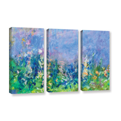 Brushstone Lavender Fields 3-pc. Gallery Wrapped Canvas Wall Art