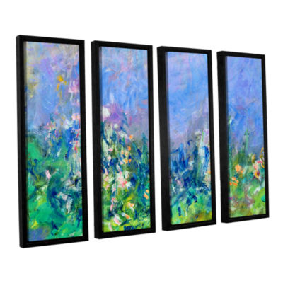 Brushstone Lavender Fields 4-pc. Floater Framed Canvas Wall Art