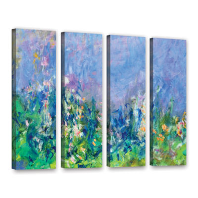 Brushstone Lavender Fields 4-pc. Gallery Wrapped Canvas Wall Art