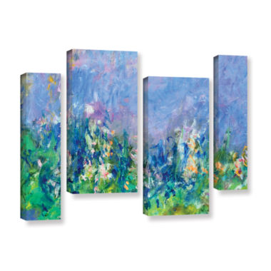Brushstone Lavender Fields 4-pc. Gallery Wrapped Staggered Canvas Wall Art