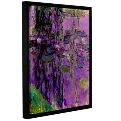 Brushstone Lavender Water Lillies Gallery WrappedFloater-Framed Canvas Wall Art