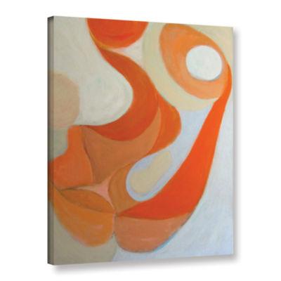 Brushstone Orange Form Gallery Wrapped Canvas WallArt