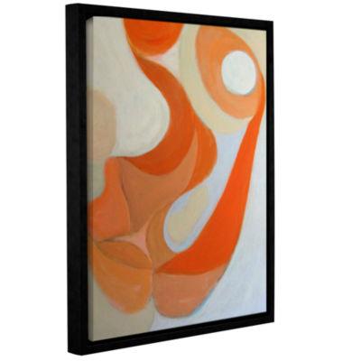Brushstone Orange Form Gallery Wrapped Floater-Framed Canvas Wall Art