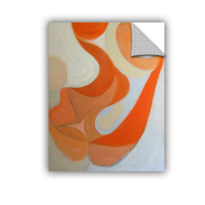 Brushstone Orange Form Removable Wall Decal