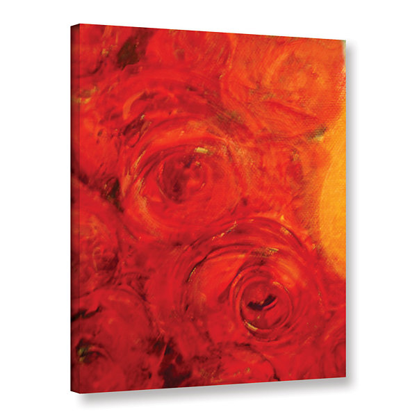 Brushstone Orange Roses Gallery Wrapped Canvas Wall Art