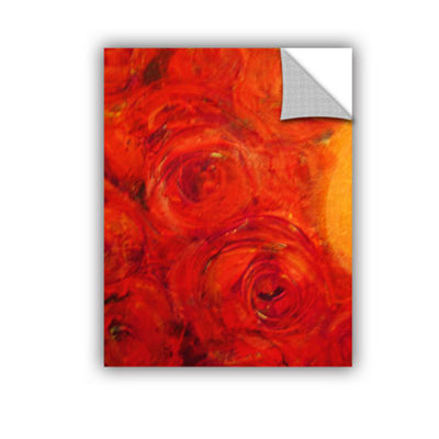 Brushstone Orange Roses Removable Wall Decal