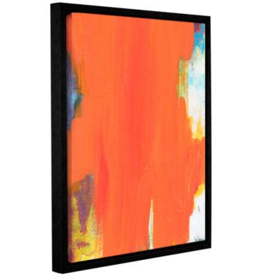 Brushstone Orange Tide Gallery Wrapped Floater-Framed Canvas Wall Art