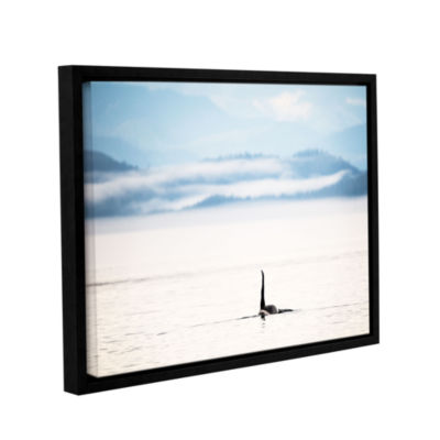 Brushstone Orcha Seascape Gallery Wrapped Floater-Framed Canvas Wall Art