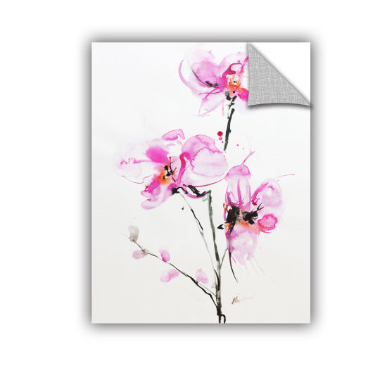 Brushstone Orchid 1 Removable Wall Decal