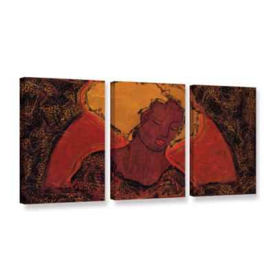 Brushstone Leopard Sister 3-pc. Gallery Wrapped Canvas Wall Art