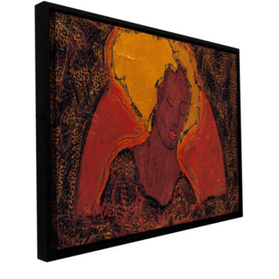 Brushstone Leopard Sister Gallery Wrapped Floater-Framed Canvas Wall Art