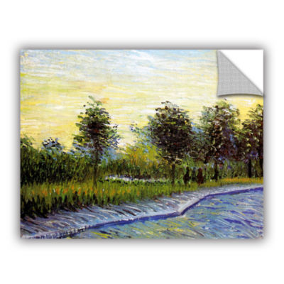Brushstone Lane In Voyer D'Argensom Park At Asnieres Removable Wall Decal