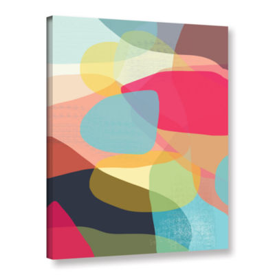 Brushstone Layered Earth One Gallery Wrapped Canvas Wall Art