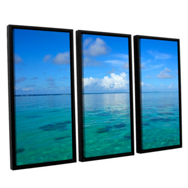 Brushstone Lagoon & Reef 3-pc. Floater Framed Canvas Set
