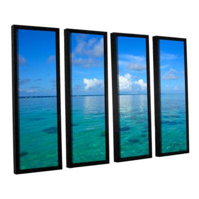 Brushstone Lagoon & Reef 4-pc. Floater Framed Canvas Set