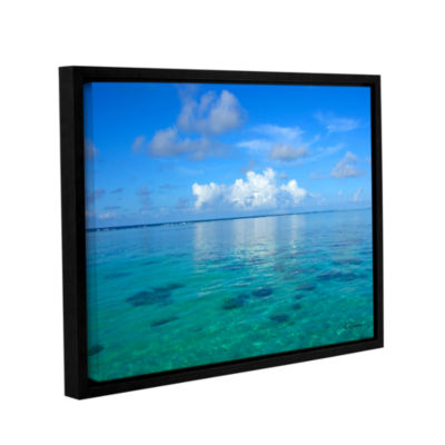 Brushstone Lagoon & Reef Gallery Wrapped Floater-Framed Canvas