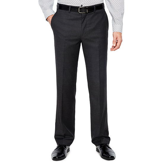 JF J.Ferrar Mens Stretch Slim Fit Suit Pants - Slim