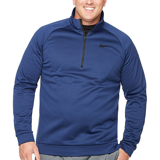 Nike Big and Tall Mens Round Neck Long Sleeve Quarter-Zip Pullover