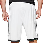 adidas Mens Elastic Waist Basketball Shorts - Big and Tall