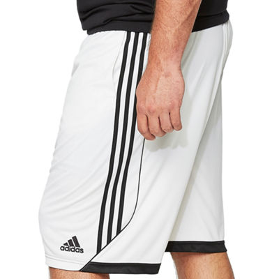 adidas Mens Elastic Waist Workout Shorts - Big and Tall