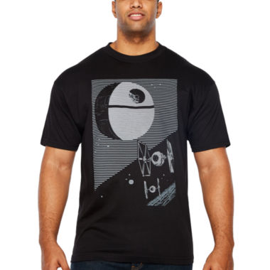 Starwars Empire LInes Short Sleeve Graphic T-Shirt-Big and Tall