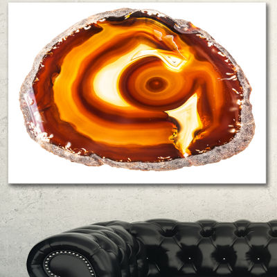 Designart Vibrant Agate Geode Slice Large AbstractCanvas Artwork - 3 Panels