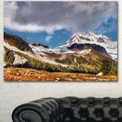 Designart Whistler Mountain British Columbia ExtraLarge Canvas Art Print - 3 Panels