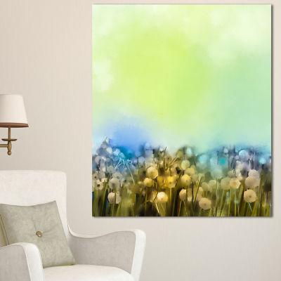 Designart White Flowers Garden In Soft Color Floral Canvas Art Print