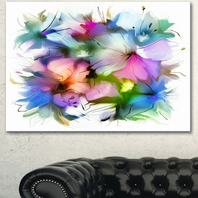 Design Art Watercolor Floral Bouquet Extra Large Floral Wall Art