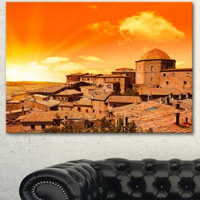 Designart Wonderful Italy Tuscany Hill At Dawn Extra Large Canvas Art Print - 3 Panels