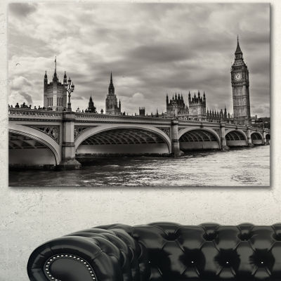 Design Art Wonderful View Of Westminster Bridge Large Cityscape Canvas Art Print