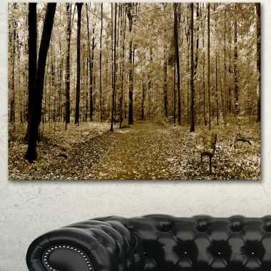 Designart Wooded Forest Panoramic View Modern Forest Canvas Art