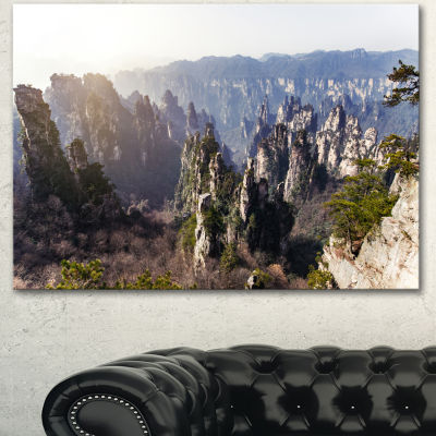 Designart Zhangjiajie National Forest Park Landscape Canvas Art Print
