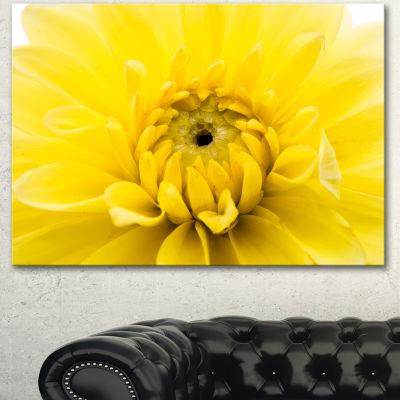 Designart Yellow Chrysanthemum Gold Flower FlowerArtwork On Canvas