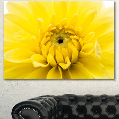 Designart Yellow Chrysanthemum Gold Flower FlowerArtwork On Canvas - 3 Panels