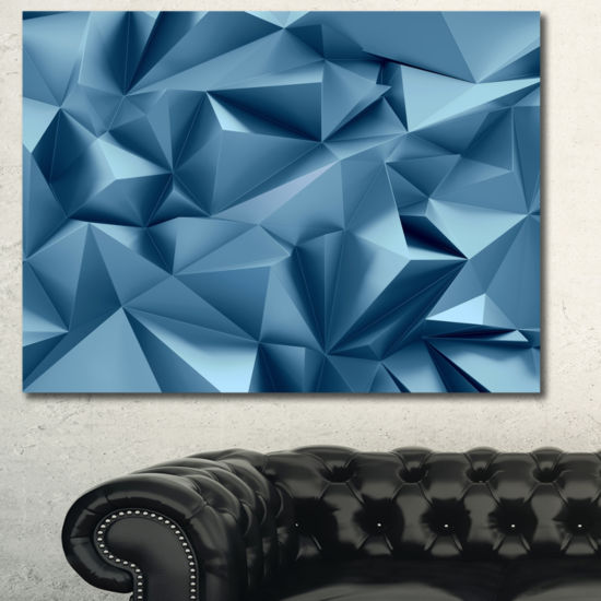 Designart 3D Abstract Geometric Background Abstract Canvas Wall Art